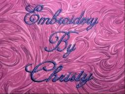 Embroidery by Christy Logo